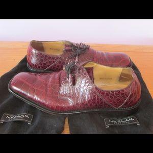 Mezlan Premium Genuine Alligator Shoes size 9.5 M